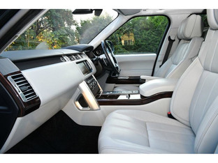 Range Rover Autobiography Driven Service -White Leather Luxury Seats