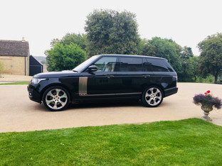 Range Rover Chauffeur Hire at a Rural Property