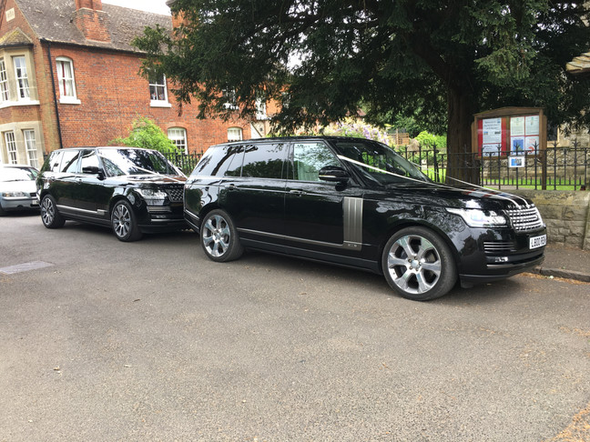 Two Range Rover Wedding Chauffeured Cars