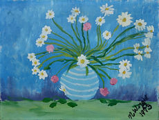 Daisies 12 x 16 inches