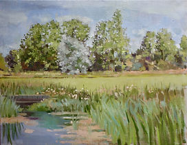 Late summer, Norfolk 14 x 18 in_