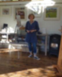 Naomi in her studio