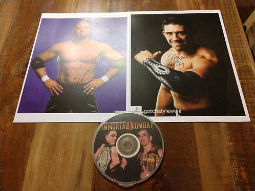 Immortal Kombat II DVD/ Signed Credible & Gotch Picture