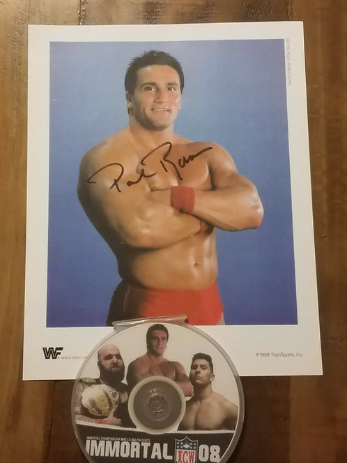 Immortal 08 DVD & Autographed Paul Roma Picture
