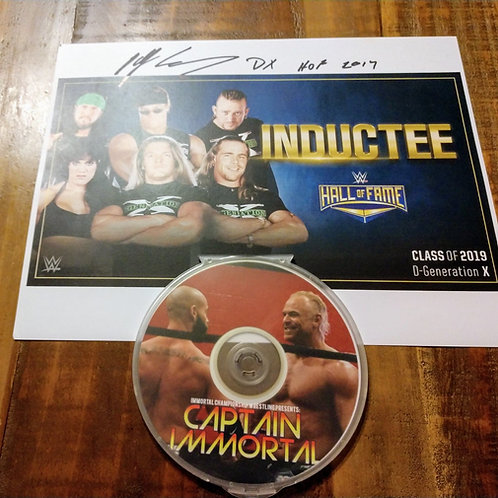 Captain Immortal DVD /Signed Billy Gunn Picture
