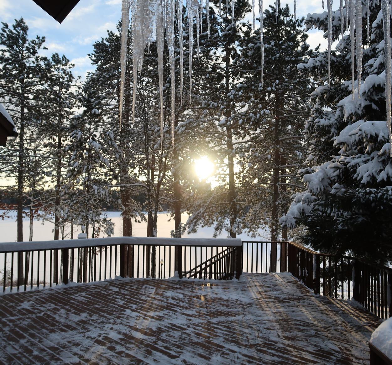 Winter in up north Michigan
