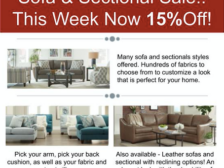 Sofa & Sectional Sale!
