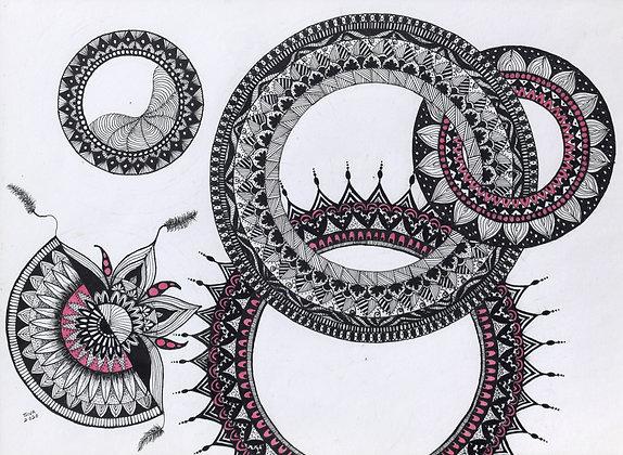 CIRCLE OF WISDOM IV (2020) by Sivaneswari Sinnathamby
