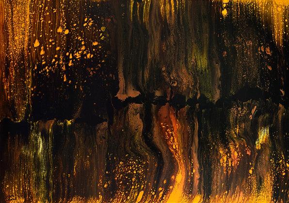 THE METALLIC SPLASH  (2020) by Sivaneswari Sinnathamby