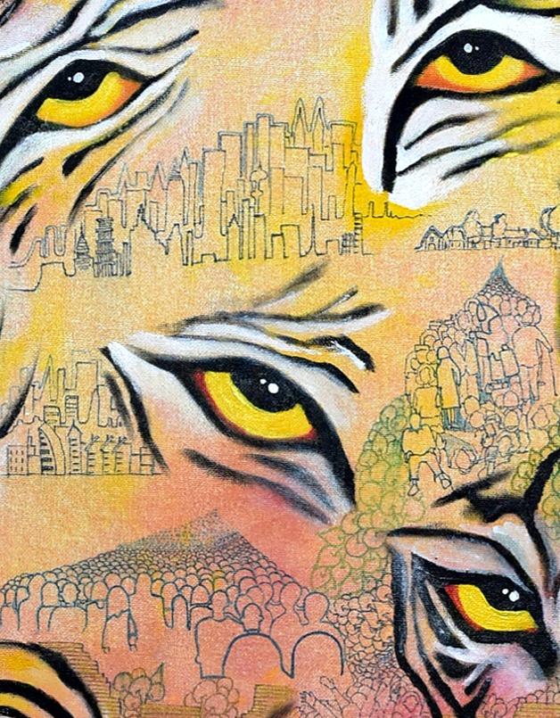 The Eyes, 2020 - 60 cm x 80 cm - Acrylic