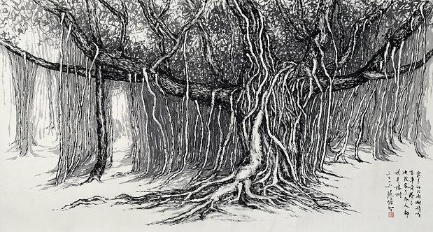OLD TREE IN HOMETOWN (2016) by Tan Puay Tee