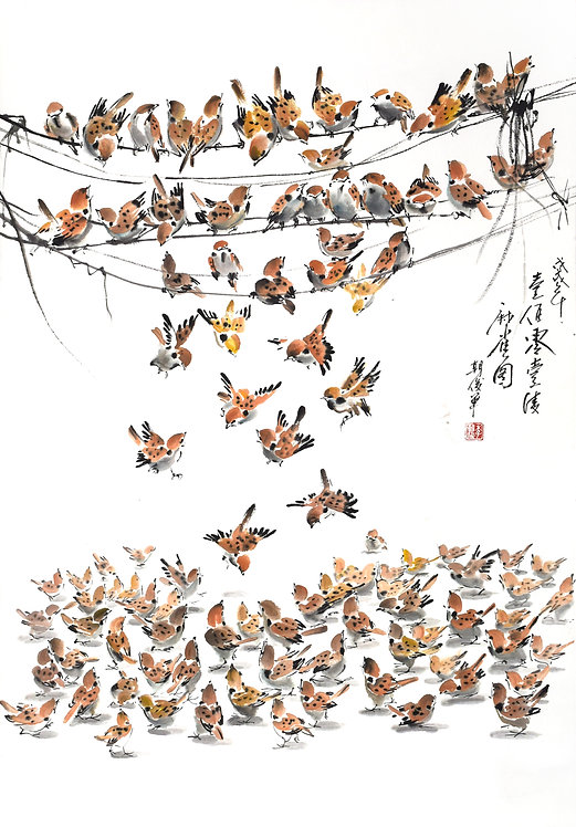 ONE HUNDRED & ONE SPARROWS (2018) by Lee Tio Chon