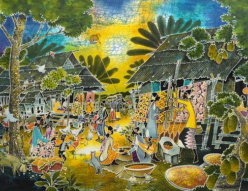 Harmony of Village Neighour, Batik Art,