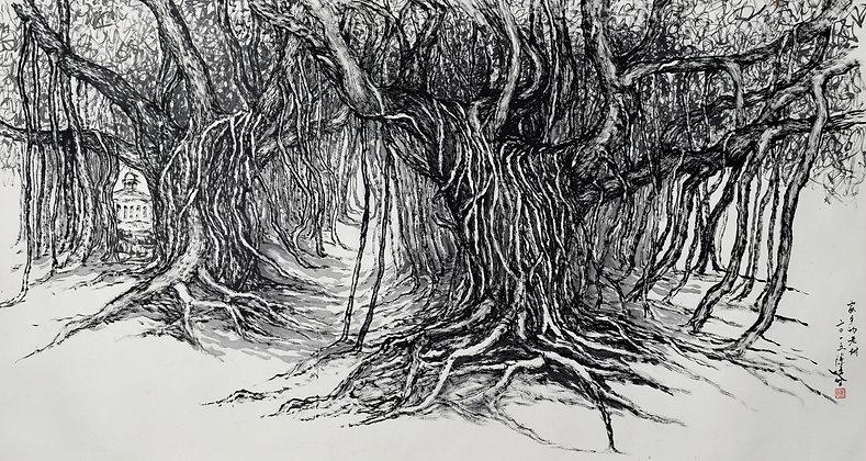 OLD TREE IN HOMETOWN (2015) by Tan Puay Tee