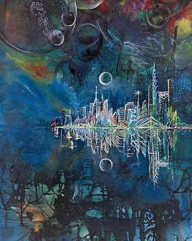 TIGA ALAM, 2020 - 91 cm x 60 cm - Acryli
