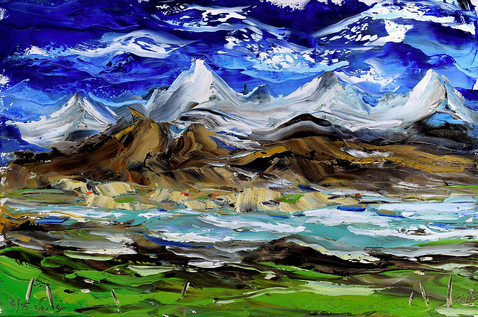 Mountain-Landscape 2-2019-Oil-on-canvas-