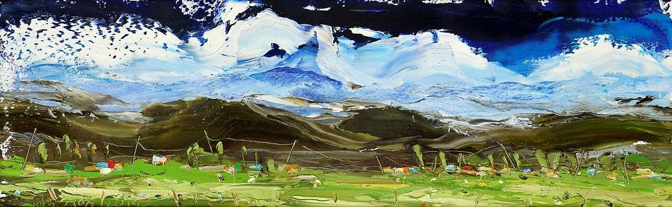 Mountain-Landscape 1-2019-Oil-on-canvas-