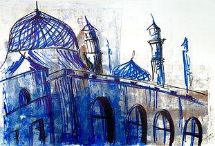 SIMONE FOO - Mosque, 2018 - 60 cm x 85 c