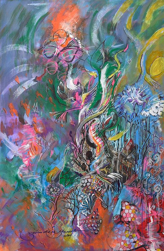 HAZE, 2020 - 90 cm x 60 cm - Acrylic on