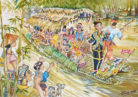RAFT FESTIVAL AT MOYOG RIVER, PENAMPANG, SABAH (2020) by Christianne Goonting