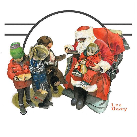 Christmas Card Design 3 of 10, Santa's Grotto