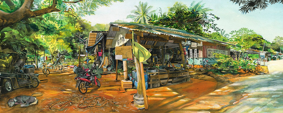 Typically Thai, Original Watercolour Painting