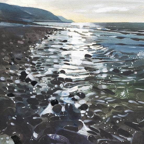 Bossington Beach, Exmoor Print