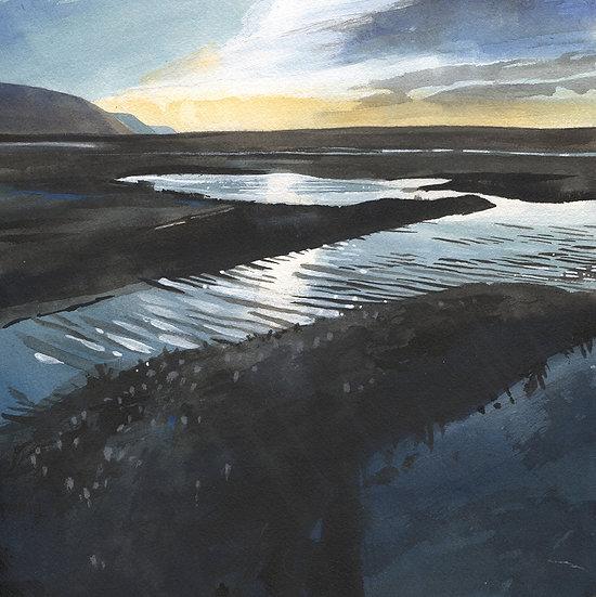 Exmoor, Porlock Marsh 3, Original Watercolour Painting