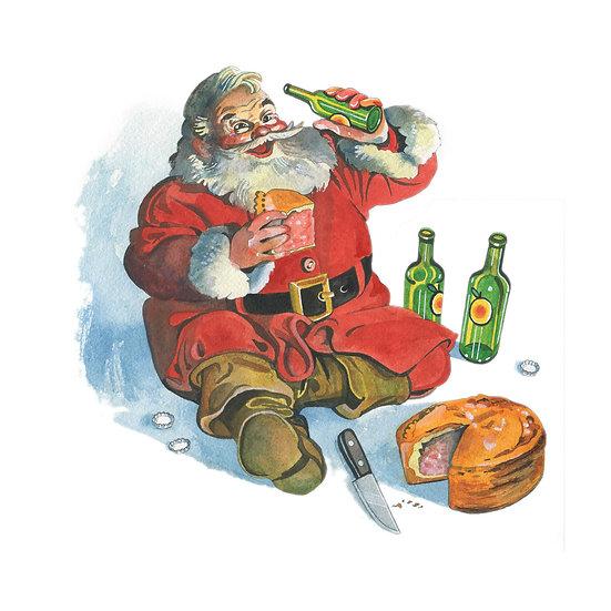 Christmas Card Design 10 of 10, Always Cider (& Maybe a Pork Pie?)