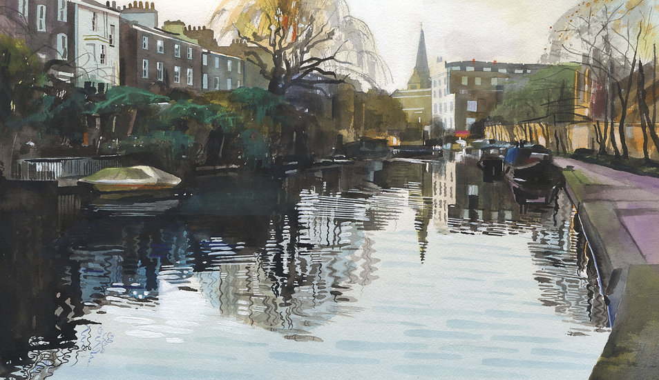 Regents Canal 2, Orignial Watercolour Painting