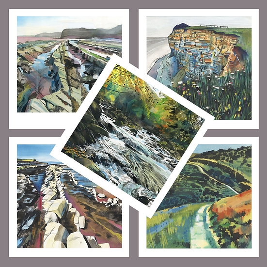 Greetings Card Pack E. Kilve Beach + Exmoor