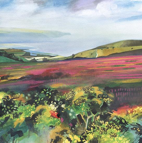 Gorse & Heather 2, Exmoor Print