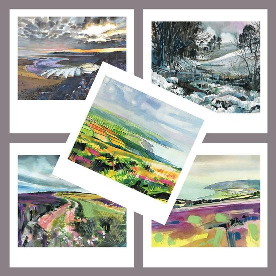 Greetings Card Pack K. Exmoor + West Somerset