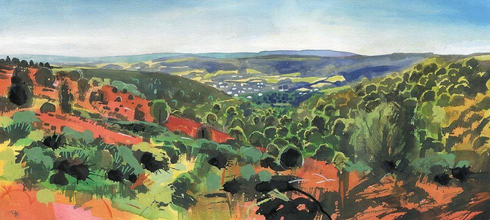 Woodcombe, Minehead, Original Watercolour Painting