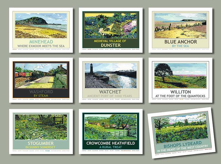 WSR Postcard Collection, West Somerset Railway 2010