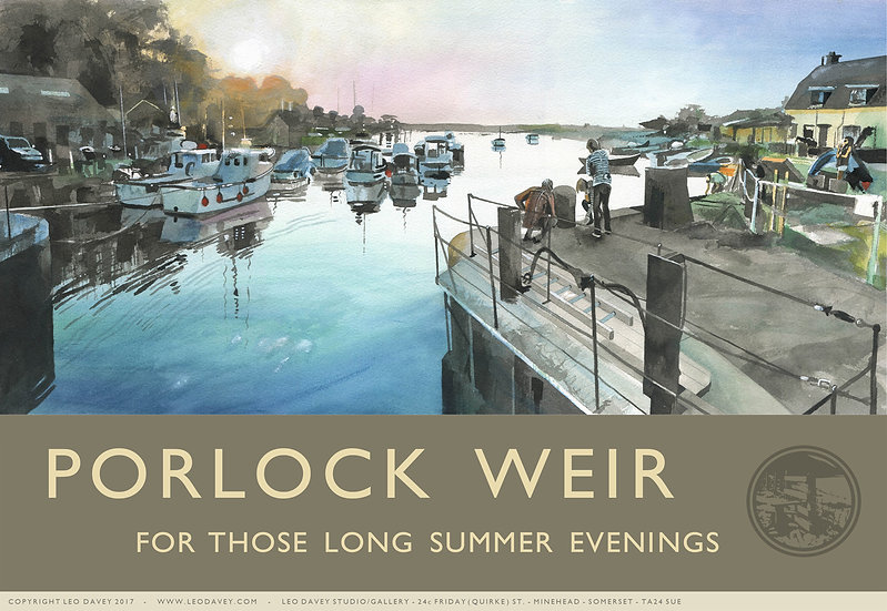 Porlock Weir, Long Summer Evenings, Exmoor Print