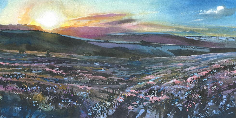 Exmoor Sunrise, Exmoor Print