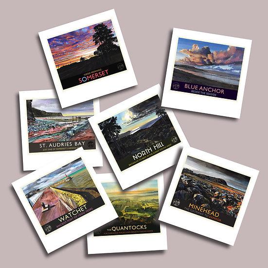 Greetings Card Pack N. Quantocks + West Somerset