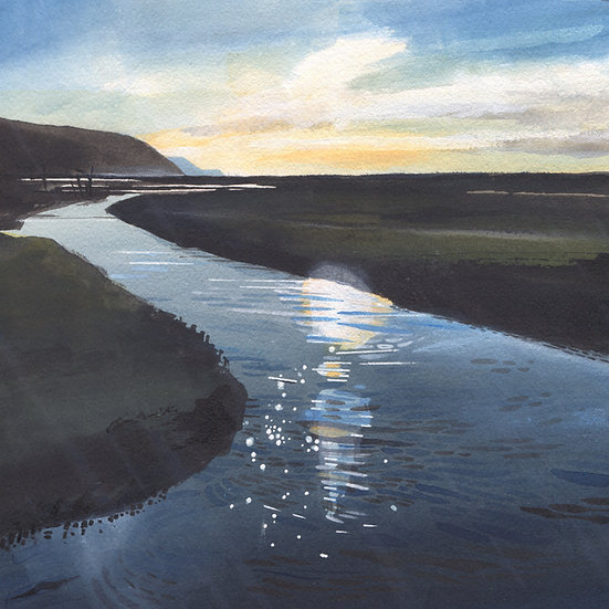 Porlock Marsh, Exmoor Print