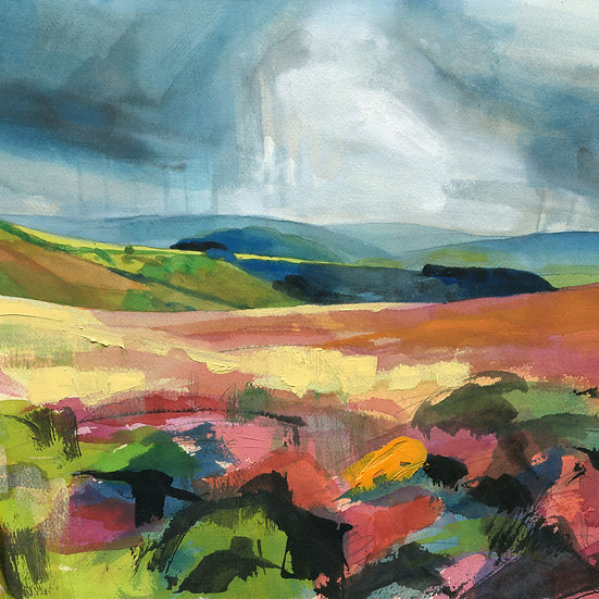 Storm Over Exmoor, Square, Exmoor Print