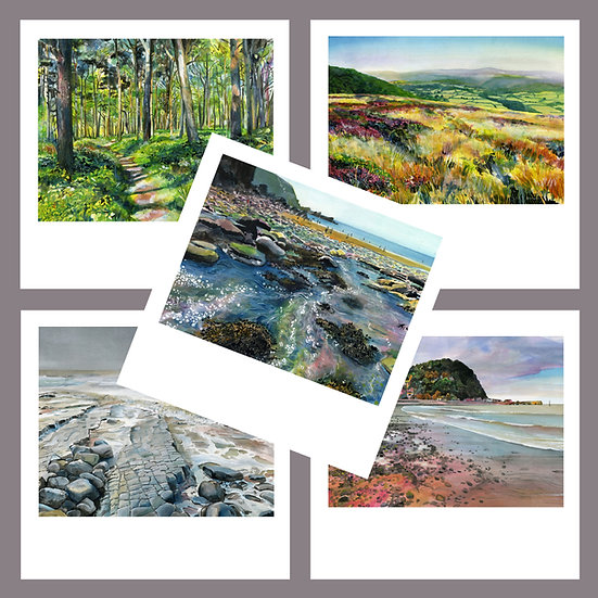 Greetings Card Pack I. Exmoor + West Somerset