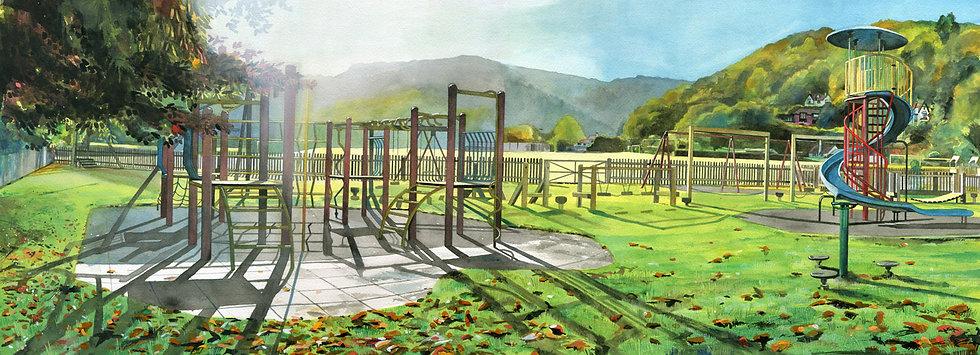 Change, Porlock Playground, Exmoor, Original Watercolour Painting