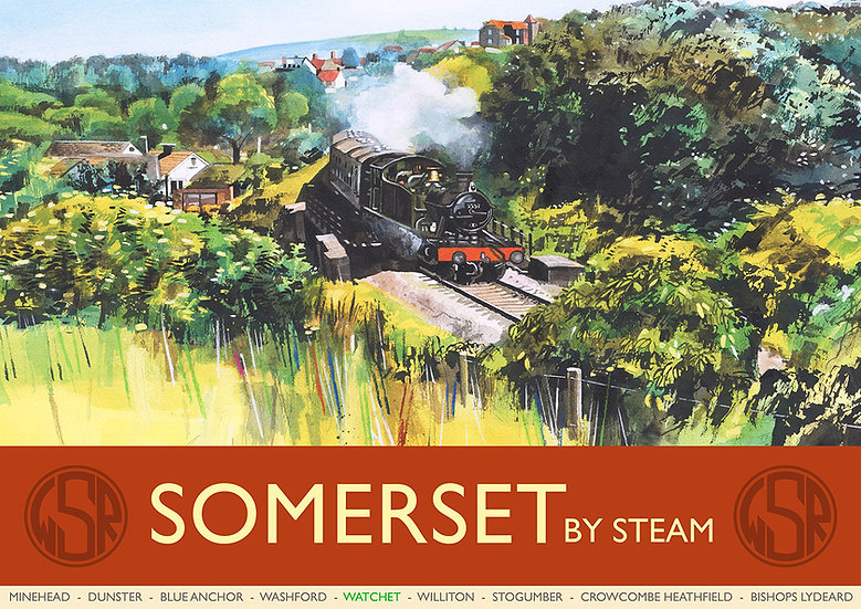 Somerset by Steam (12 of 12 from NEW WSR Collection) Somerset Print