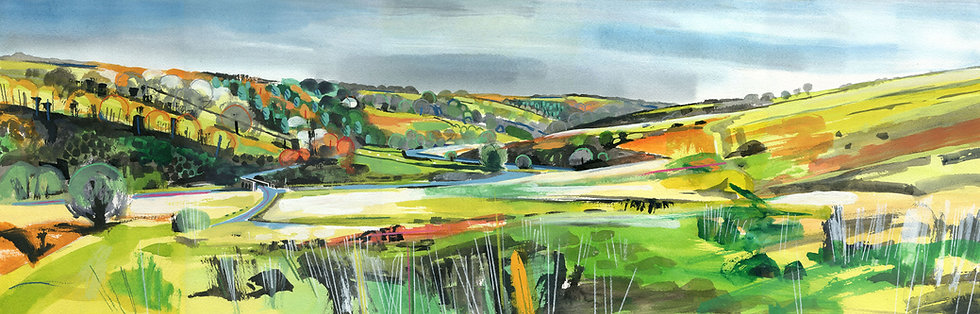 Landacre  Bridge, Exmoor Print