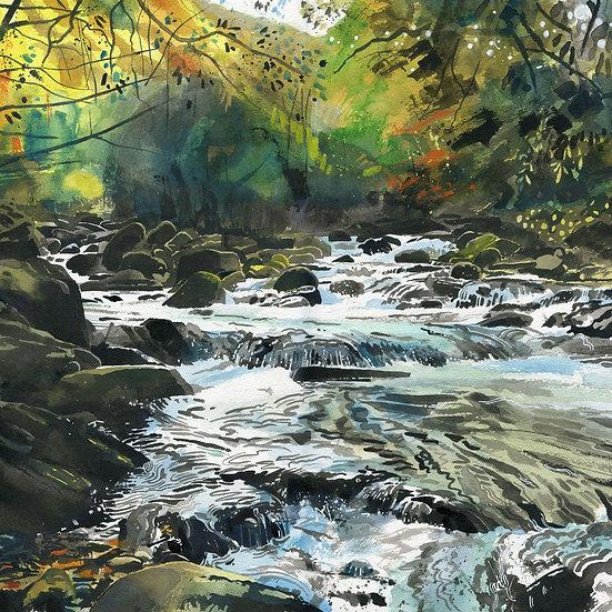 Watersmeet, Exmoor Print