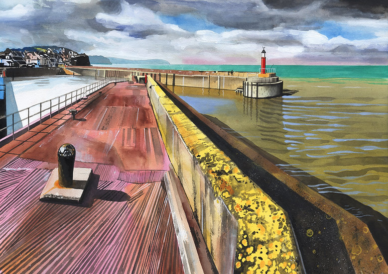 Watchet Harbour Print (no text), West Somerset