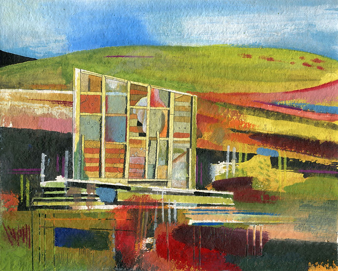 Portuguese Shed 3, Original Painting