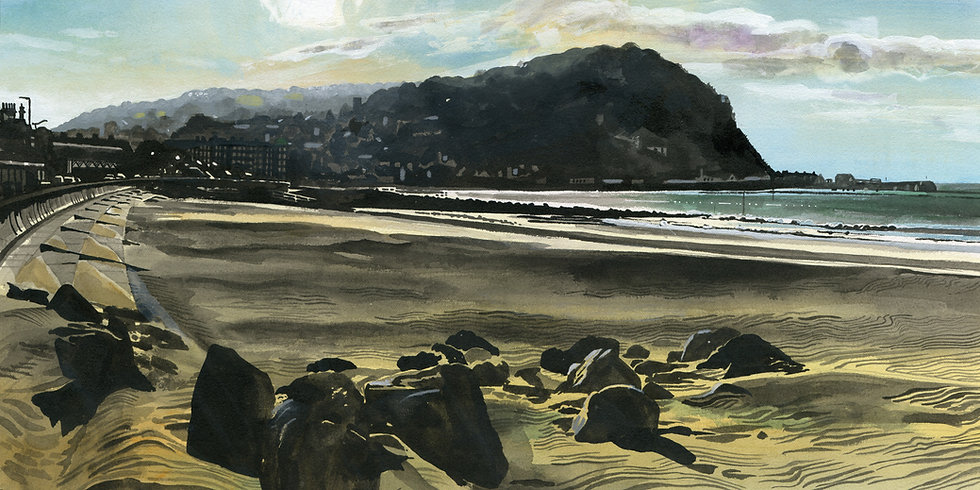 An evening on Minehead Beach, Somerset Print