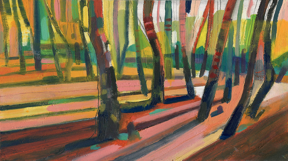 Silver Birch 2, Original Oil Painting