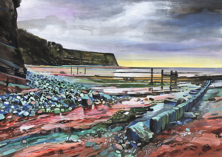 St. Audries Bay, Somerset,  Original Watercolour Painting
